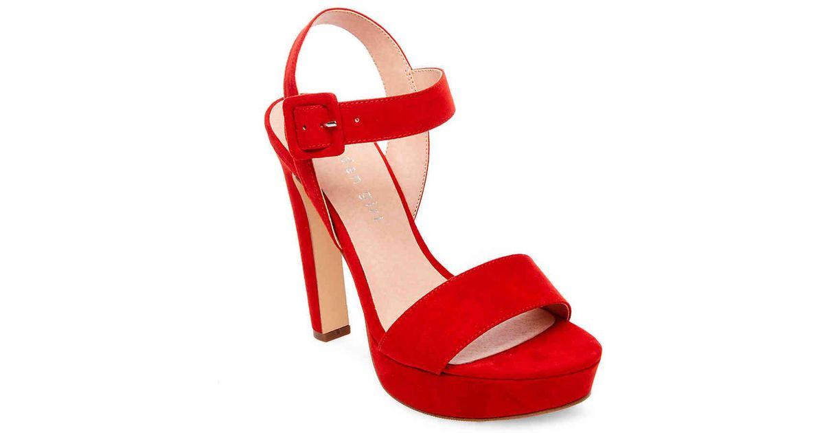 219112ae2cc Lyst - Madden Girl Rollo Platform Sandal in Red