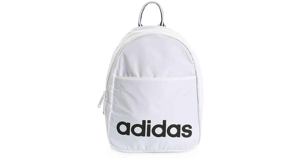 18b1a15e54 adidas Core Mini Backpack in White - Lyst