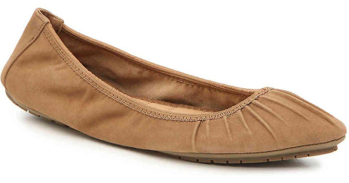dc06f59589 Lyst - Me Too Perri Ballet Flat in Brown