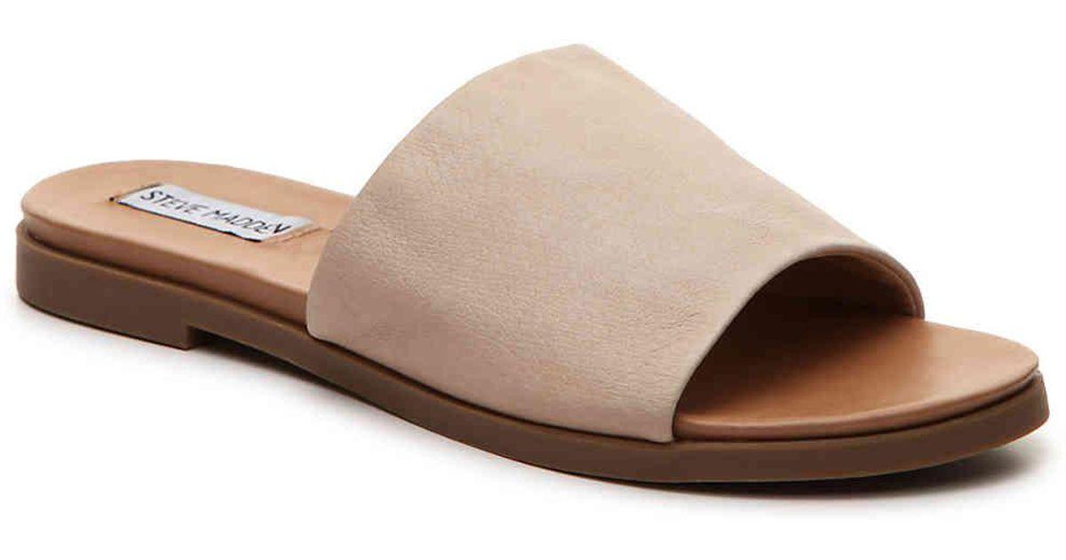 Lyst - Steve Madden Karolyn Flat Sandal in Brown