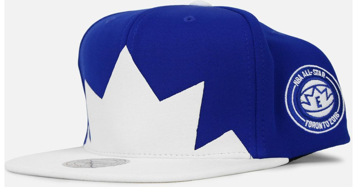 a82529ab0ee4d ... where to buy lyst mitchell ness 2016 nba all star game snapback hat in  blue for