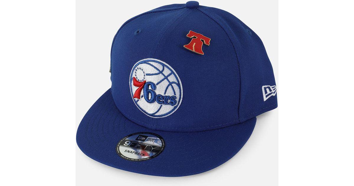 be759e1fa56bc Lyst - Ktz Philadelphia 76ers Nba 2018 Draft 9fifty Snapback Hat in Blue  for Men
