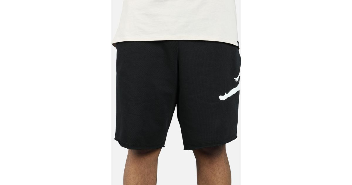 ca91aa054287 Lyst - Nike Jumpman Air Fleece Shorts in Black for Men