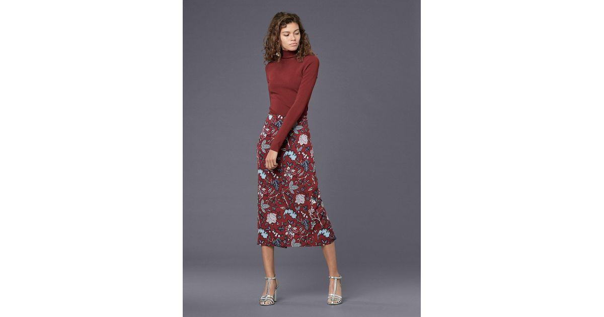 6a1f441df6 Diane von Furstenberg Kara Pencil Skirt in Red - Lyst