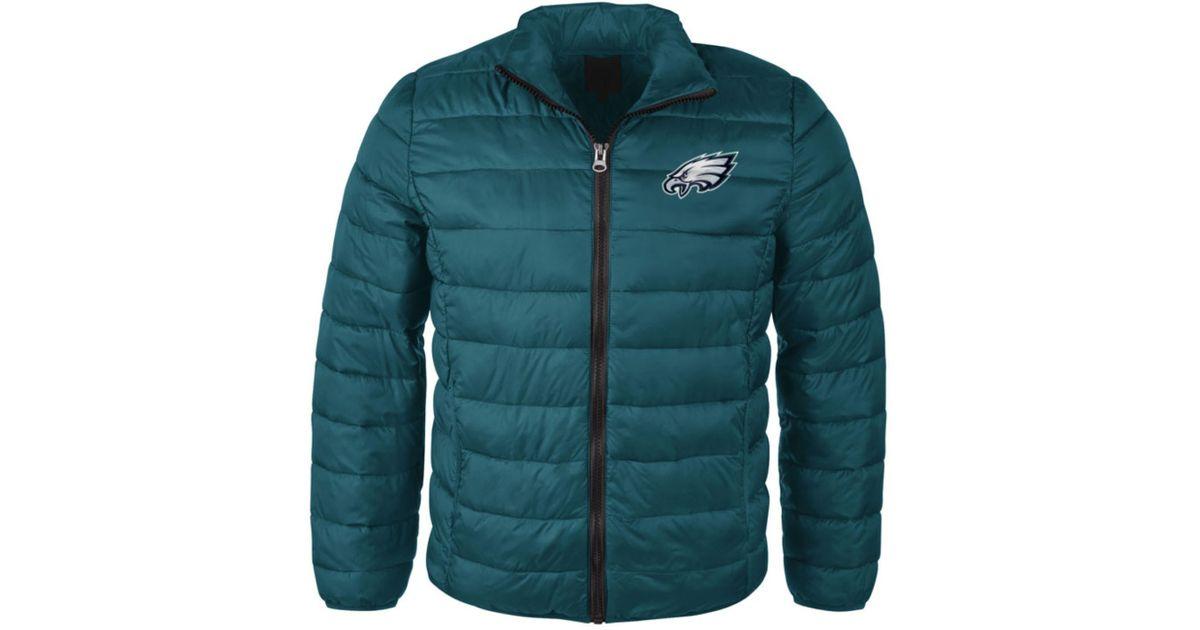 Lyst - G3 Sports Men s Philadelphia Eagles Packable Quilted Jacket in Green  for Men d9ddc1b31