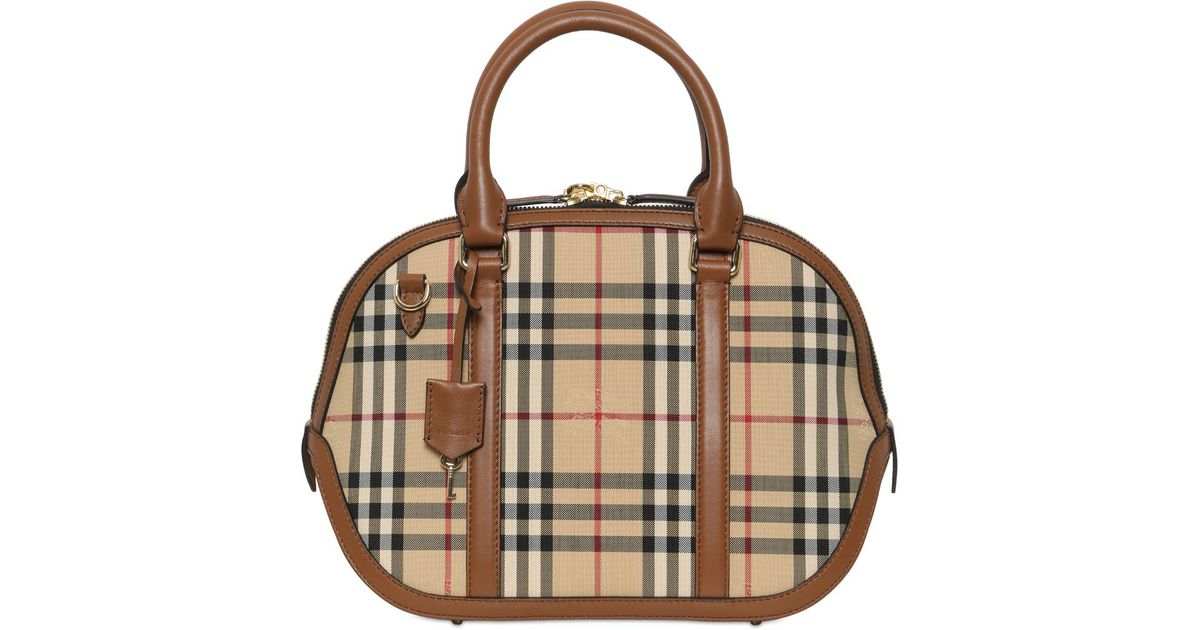 Burberry Small Orchard Bridle House Check Bag in Brown - Lyst 9f1ffe11ba