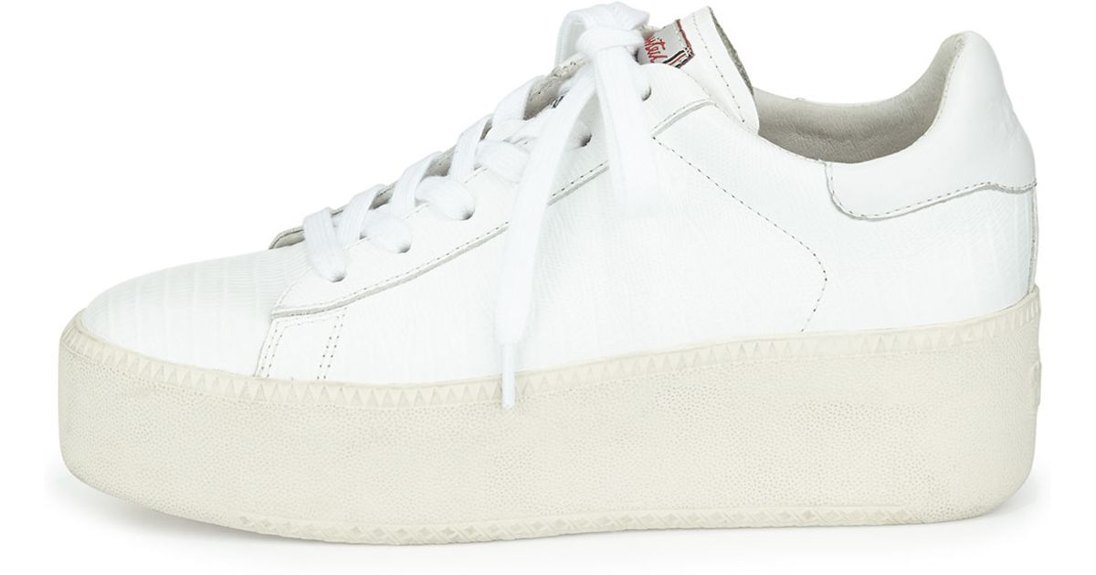 fa45468ba379 Lyst - Ash Cult Platform Leather Sneaker in White