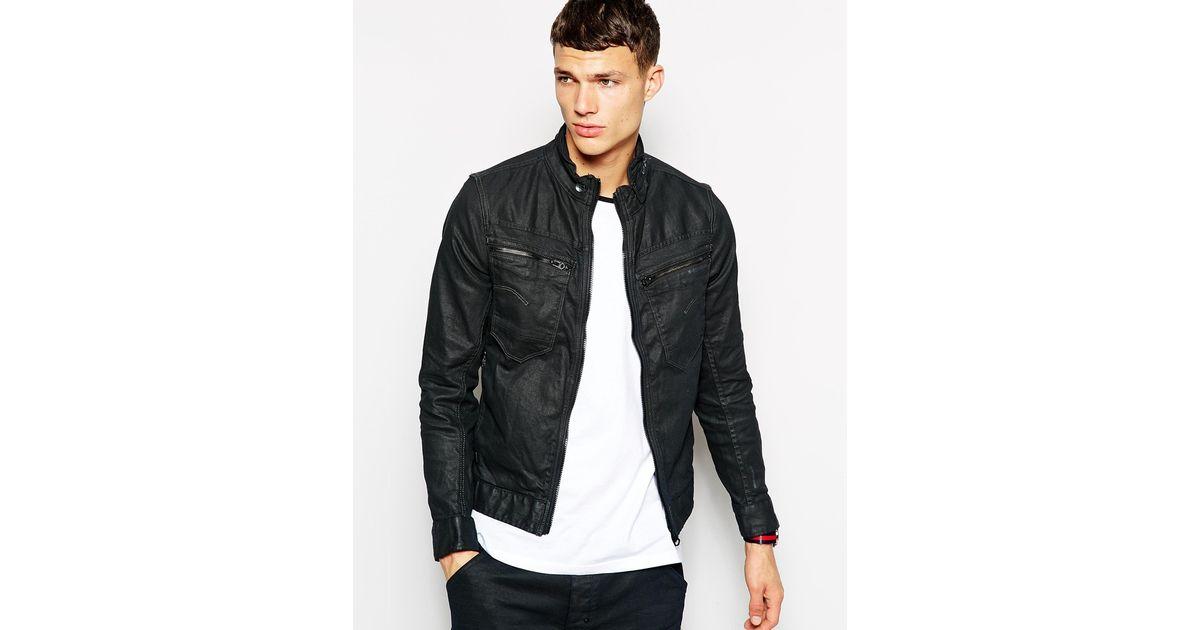 03e916080d84e Lyst - G-Star RAW G Star Denim Jacket New Riley Slim 3d Dark Aged Zip Front  in Black for Men