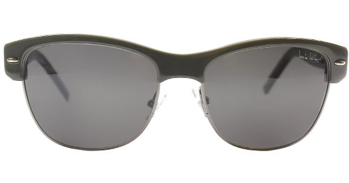 243b25d97a Nicole Miller Rector C01 Khaki Plastic And Metal Sunglasses in Gray - Lyst