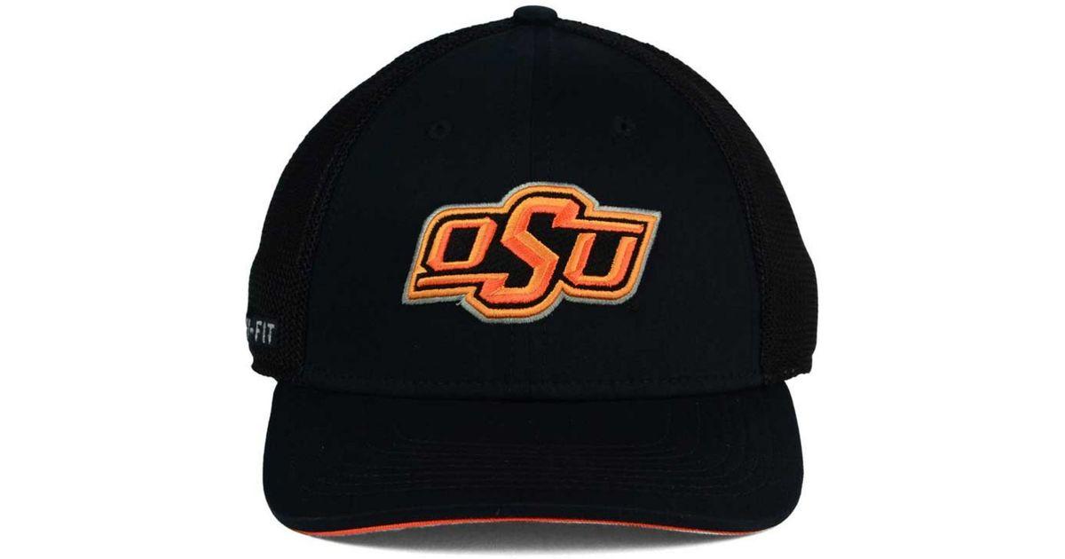 8eade082 ... amazon nike oklahoma state cowboys l91 mesh swoosh flex cap in black  for men lyst 9feeb