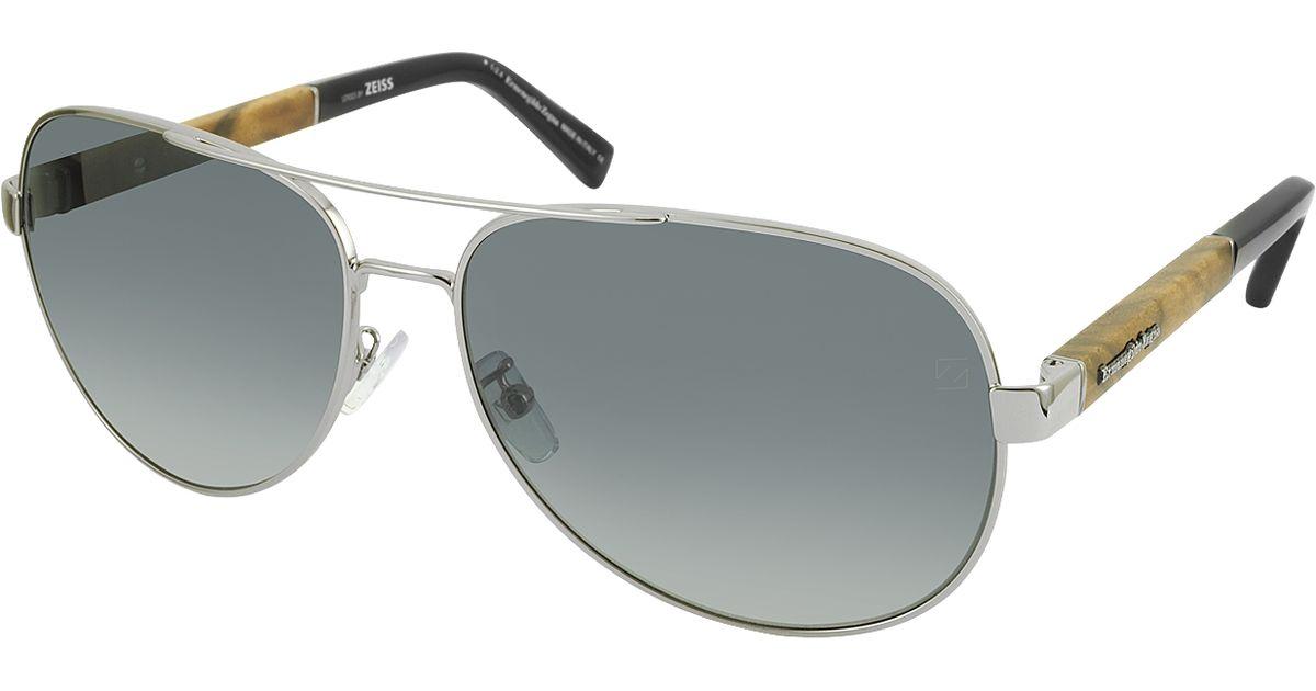 Zegna Sunglasses  ermenegildo zegna ez0010 14b chrome polarized aviator men s