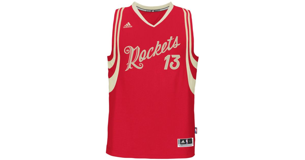 cdd1f6ef6ca2 Lyst - adidas Men s James Harden Houston Rockets Christmas Day Swingman  Jersey in Red for Men