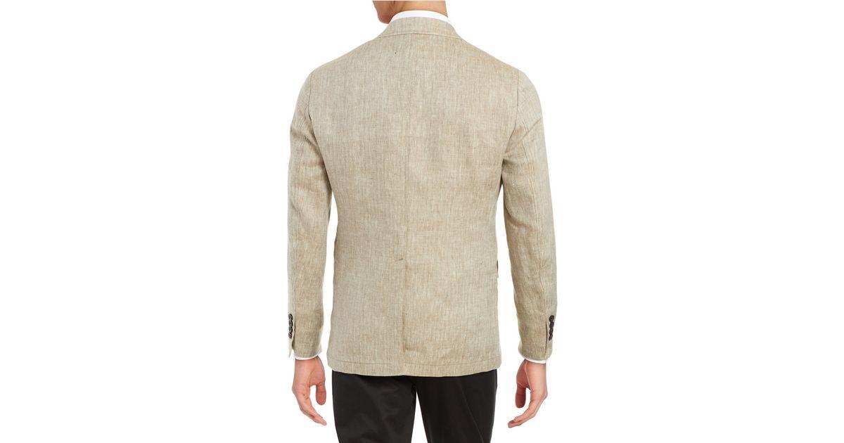 Brooks Brothers Red Fleece Herringbone Linen Suit Jacket
