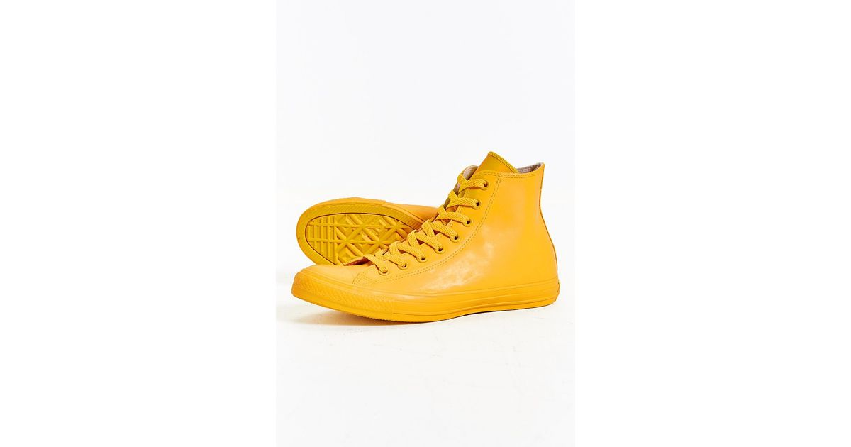 ebe20bcbb751ef Converse Chuck Taylor All Star Rubber High-top Sneakerboot in Yellow for  Men - Lyst
