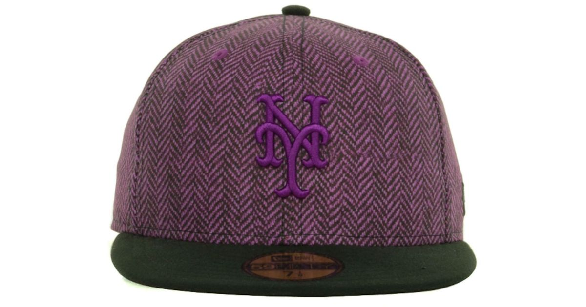 buy popular b57df 2f4a2 Lyst - KTZ New York Mets Sub-Out 59Fifty Cap in Purple for Men
