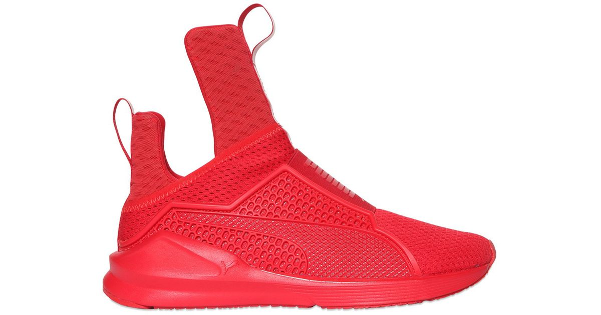 ... france lyst puma select rihanna fenty fierce reflective sneakers in red  e1edc 30766 bbc4f5fe2