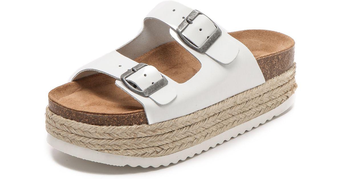 Lyst - Jeffrey Campbell Aurelia Platform Espadrille Sandals - White in White
