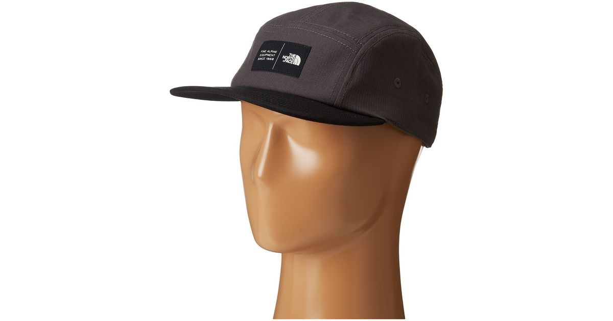 Lyst - The North Face Five Panel Ball Cap in Gray for Men e6d5ec1f092