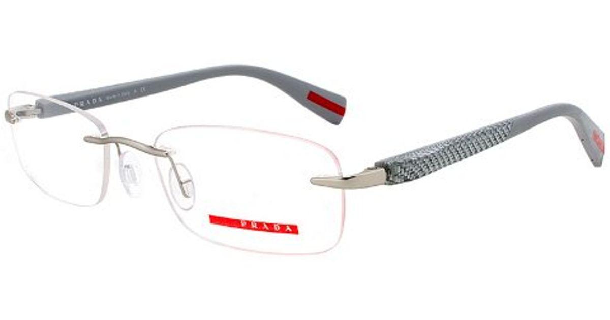 e8b53f3f83d2 ... new arrivals lyst prada eyeglass frames vps 53d 1ap 1o1 gunmetal frame  with light grey size