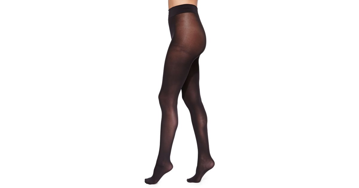 e1b06c18e Lyst - Wolford Pure 50 Basic Opaque Tights Black in Black - Save 10%