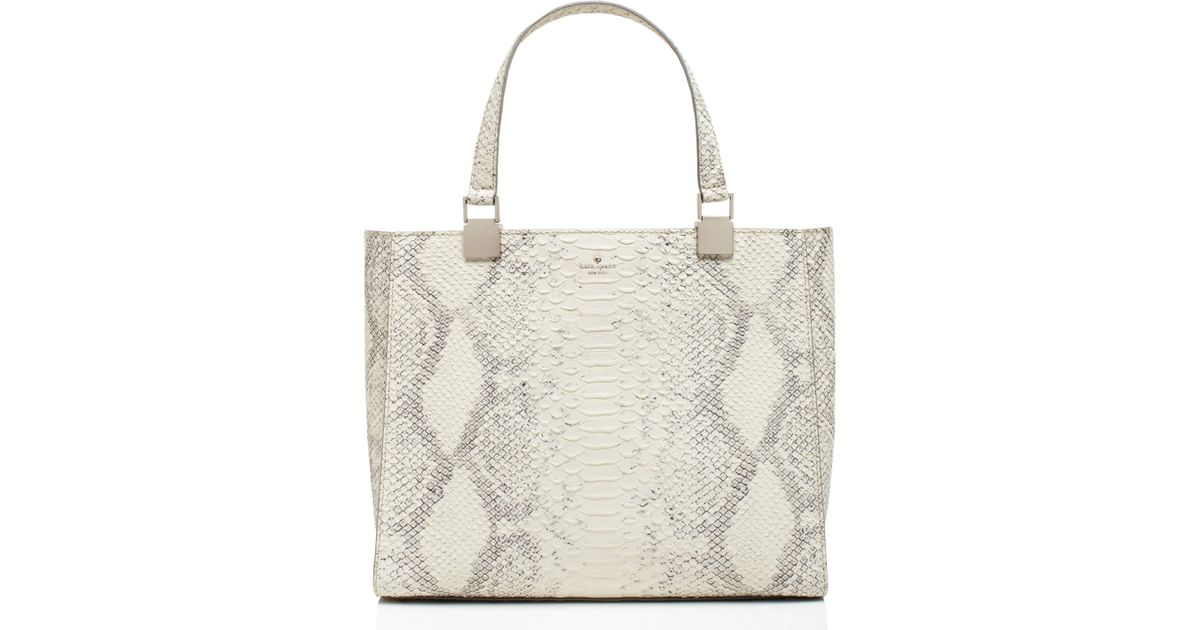 bb03e68df22 Lyst - Kate Spade Madison Langley Court Luxe Hannah in White