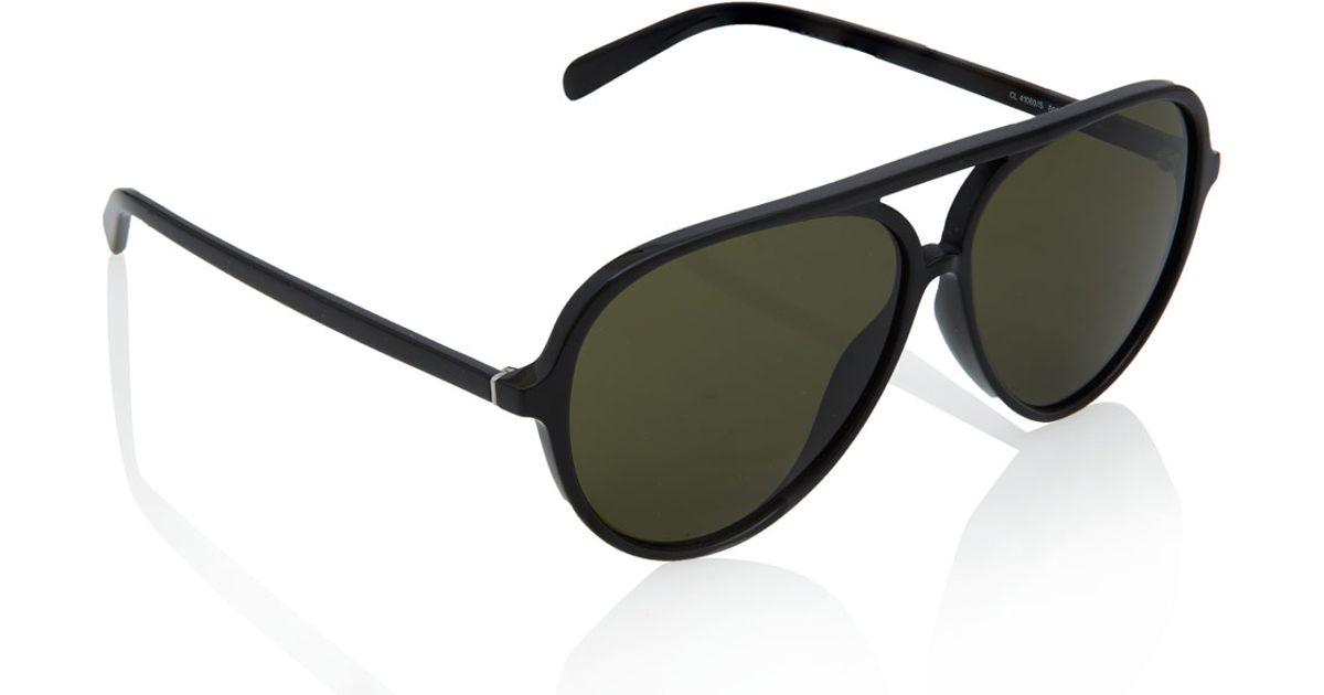 07731f4740d5 Lyst - Céline Black Acetate Aviator Sunglasses in Black
