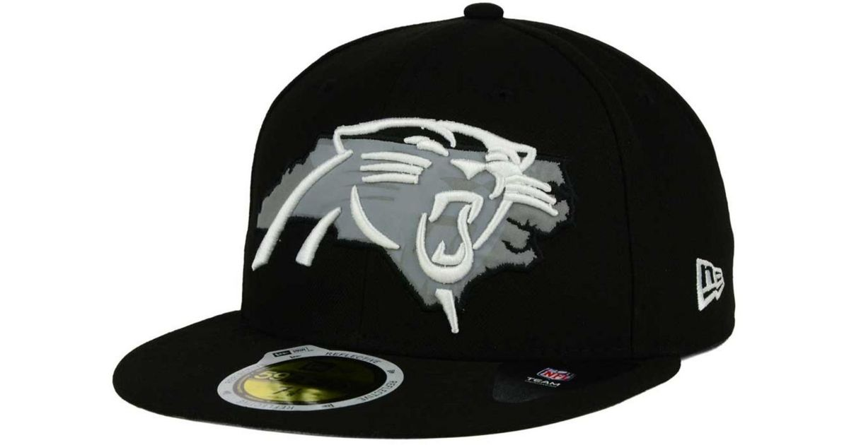 928758f78 ... promo code for lyst ktz carolina panthers state flective redux 59fifty  cap in black for men