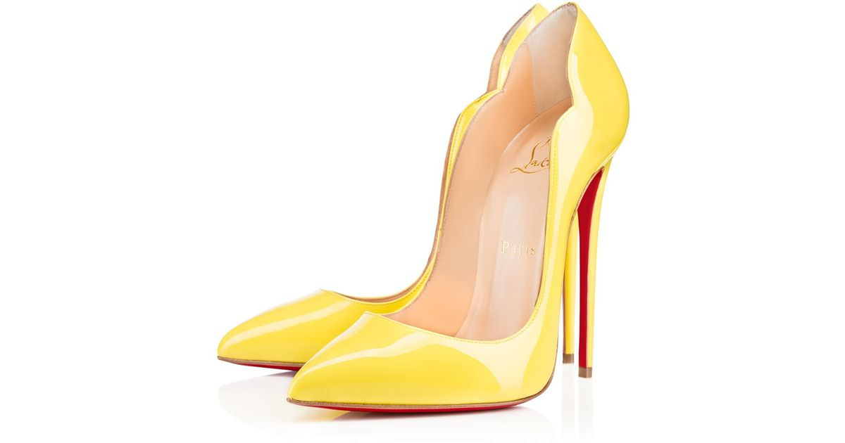 Lyst - Christian Louboutin Hot Chick in Yellow 6d0f0e59330f