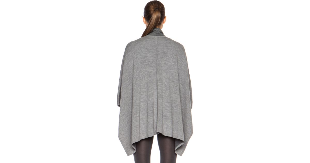 ddb7ee817 Vince Double Face Wool-Blend Poncho in Gray - Lyst