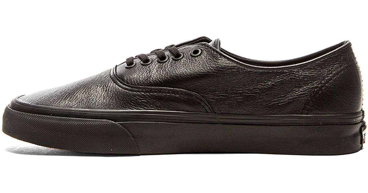 8955ae5844d7 Lyst - Vans Authentic Decon Premium Leather in Black for Men