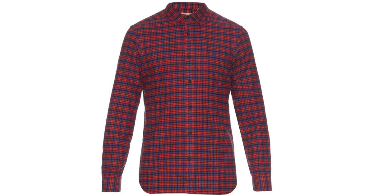 af1fa7d305ac Lyst - Burberry Brit Checked Cotton-flannel Shirt in Red for Men