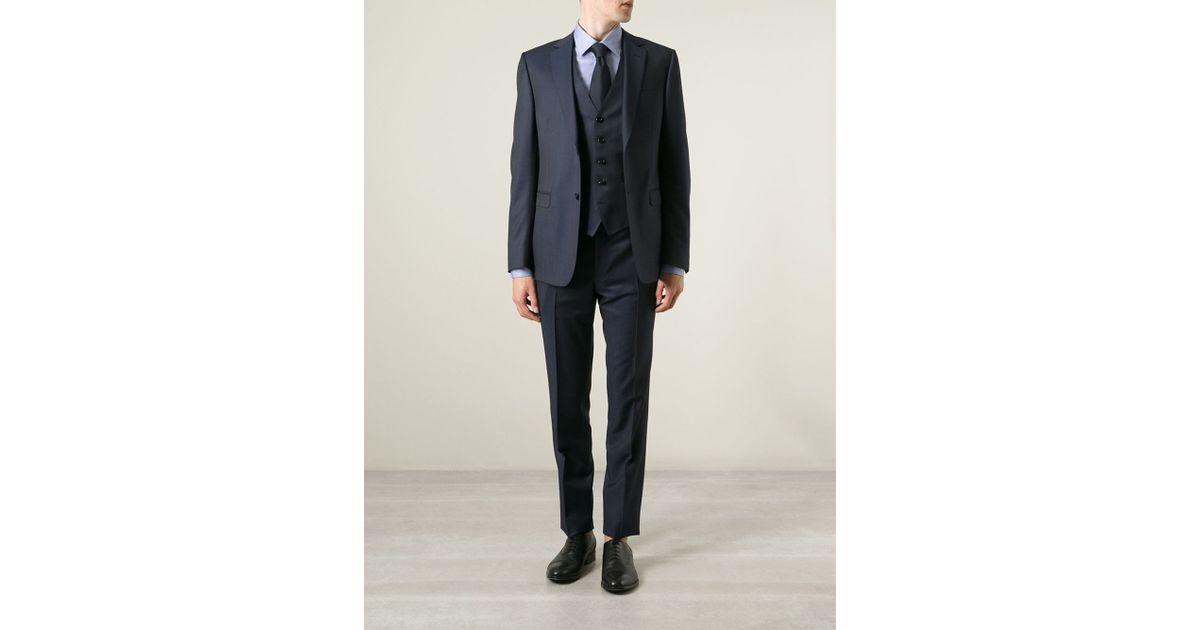 269982e2 Z Zegna - Blue Three Piece Suit for Men - Lyst