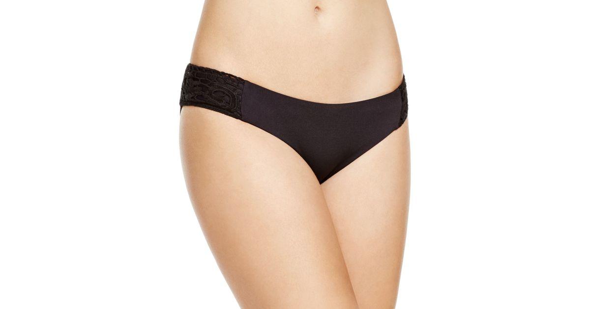 Becca Crochet Tab Hipster Bikini Bottom In Black Lyst