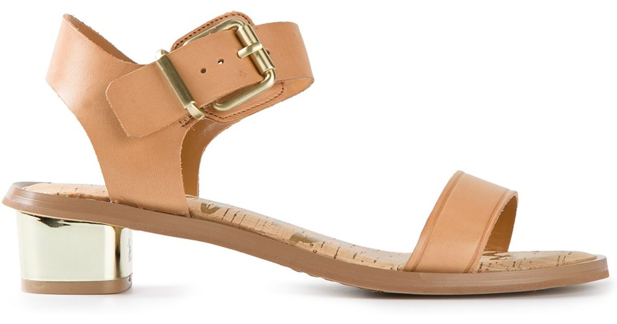 9eb28afae3ff84 Lyst - Sam Edelman Trina Sandals in Natural