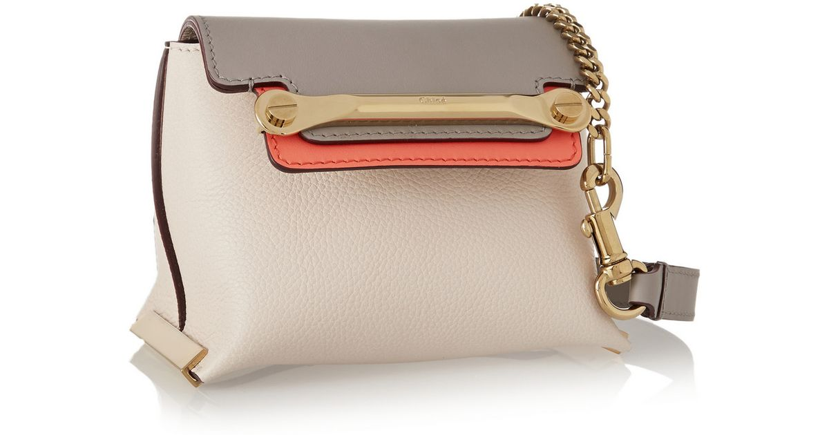b89abb7cfcea2 Chloé Clare Mini Leather Shoulder Bag in White - Lyst