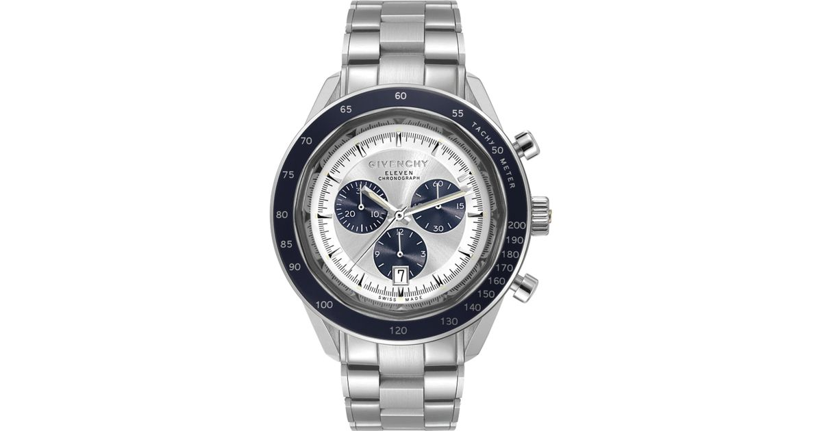 givenchy eleven stainless steel chronograph in