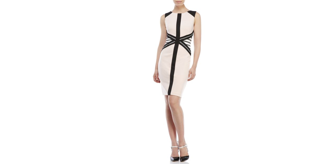 45c5e01e Ivanka Trump Color Block Sheath Dress in Black - Lyst