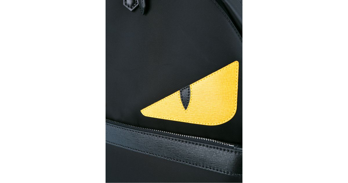 2a72b4b2c993 Fendi Monster Backpack in Black for Men - Lyst