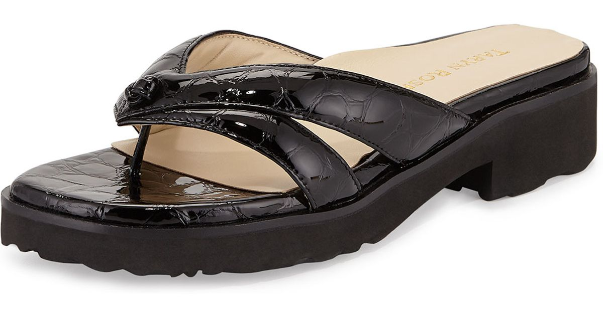2136c60024e0 Lyst - Taryn Rose Tacy Double-Strap Thong Sandals in Black