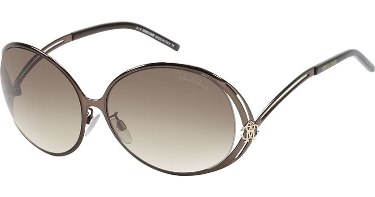 roberto cavalli grumium 61mm sunglasses in metallic
