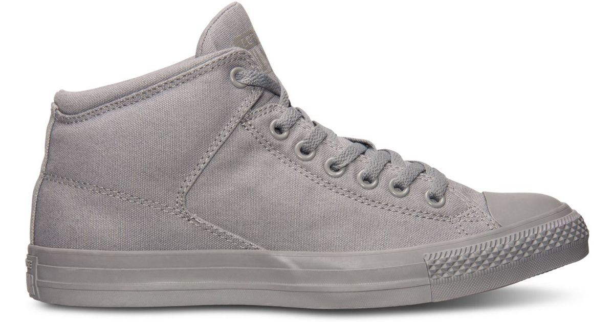 74e5a9eed158 Lyst - Converse Men s Chuck Taylor High Street Ox Casual Sneakers From Finish  Line in Gray for Men