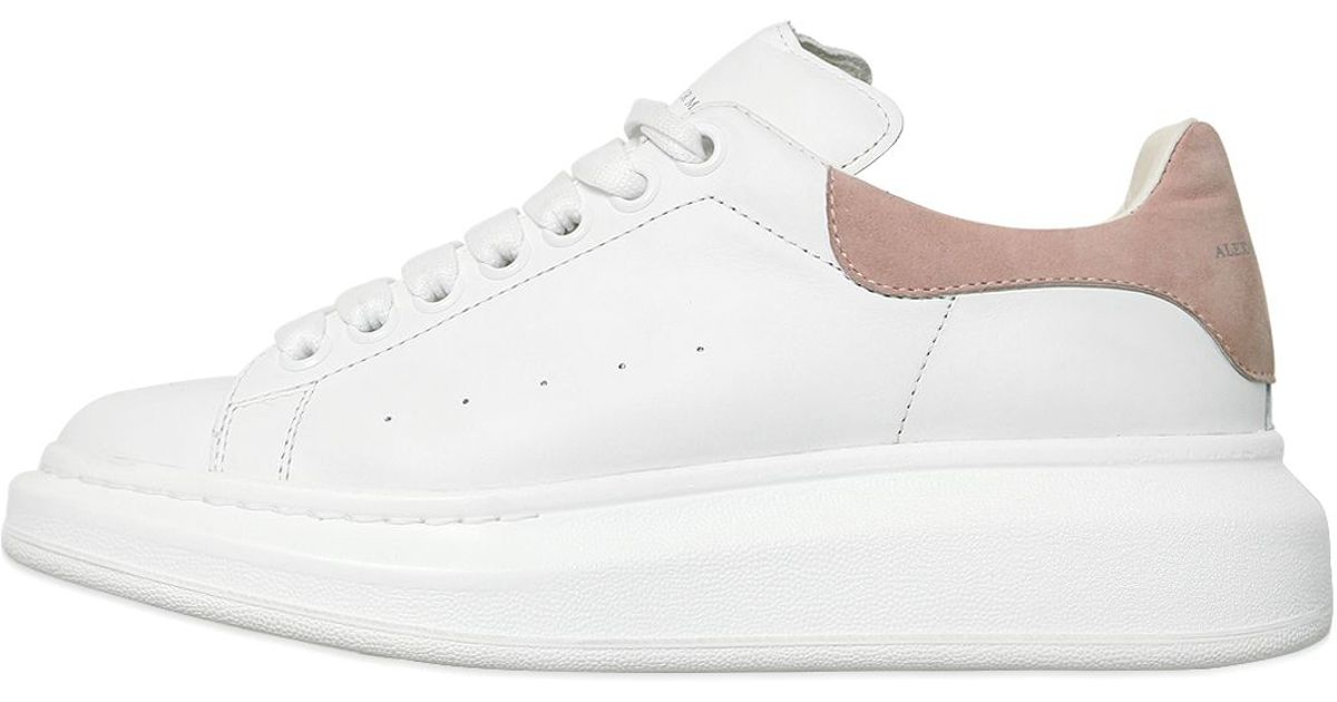 Lyst - Alexander Mcqueen 40mm Leather Sneakers in White
