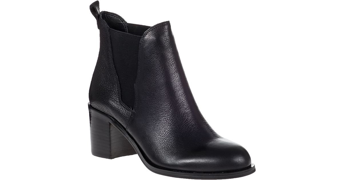 7bc93fc35d4140 Sam Edelman Justin Ankle Boot Black Leather in Black - Lyst