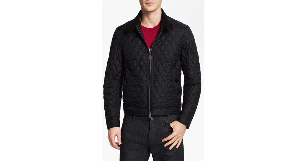 09c1327c22e Lyst - Burberry Brit  howson  Quilted Bomber Jacket in Black for Men