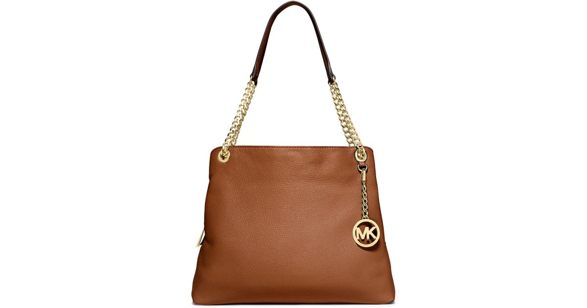 11a4526cac Lyst - MICHAEL Michael Kors Jet Set Large Shoulder Bag in Brown
