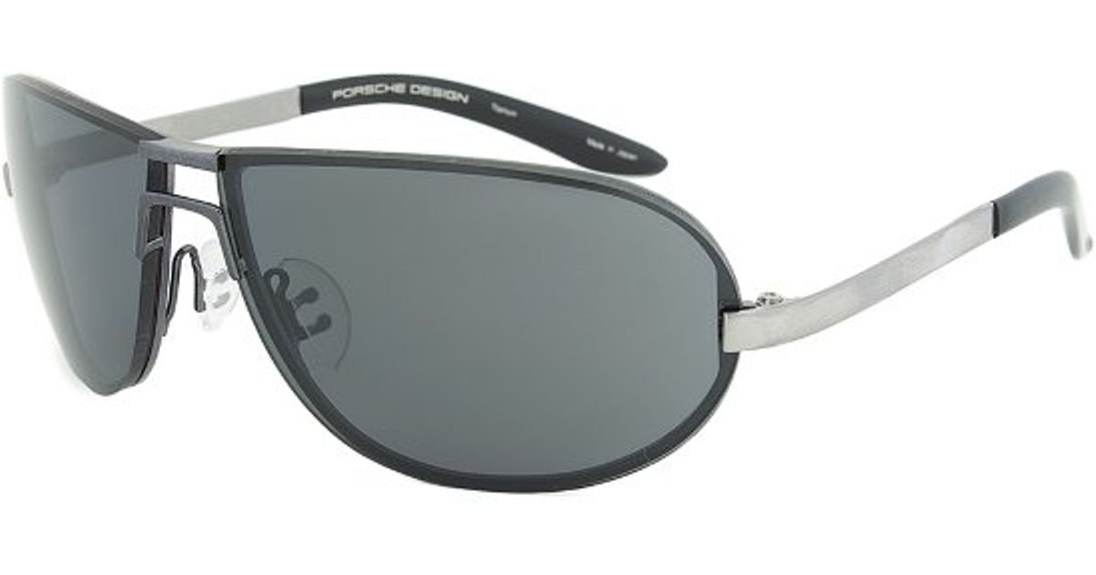 81bb27f215 Porsche Design Design P8418 C Titanium Pilot Sunglasses