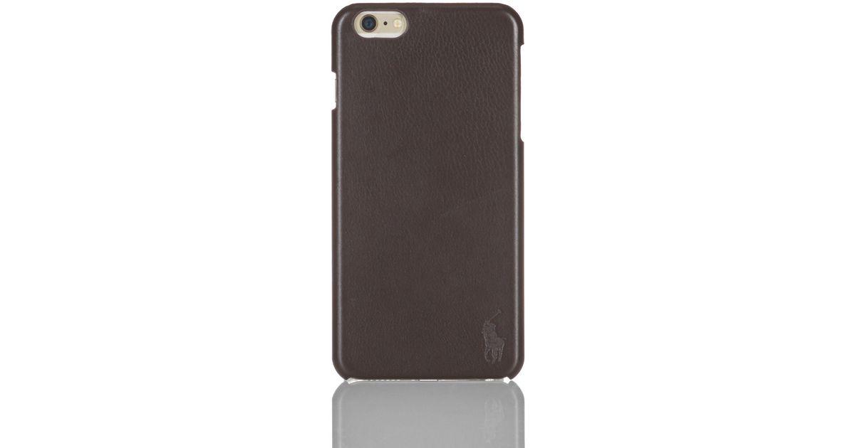 newest 18628 08cd0 Polo Ralph Lauren Brown Iphone 6 Plus Case for men