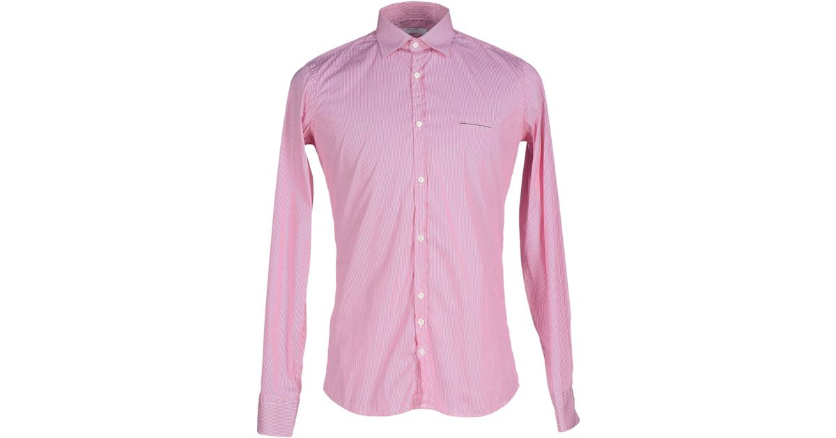 Aglini shirt in purple for men lyst Light purple dress shirt men
