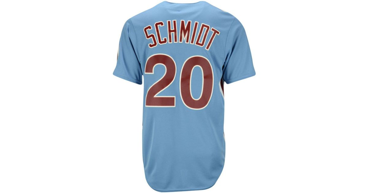 online store 4088a 5b11e Majestic - Blue Men's Mike Schmidt Philadelphia Phillies Cooperstown Player  T-shirt for Men - Lyst