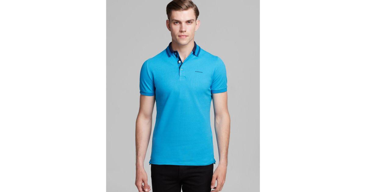 13c64a3d Lyst - Burberry London Adler Short Sleeve Polo in Blue for Men